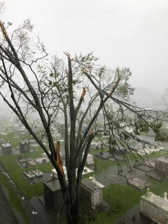 Damage during Hurricane Ida 8-29-21