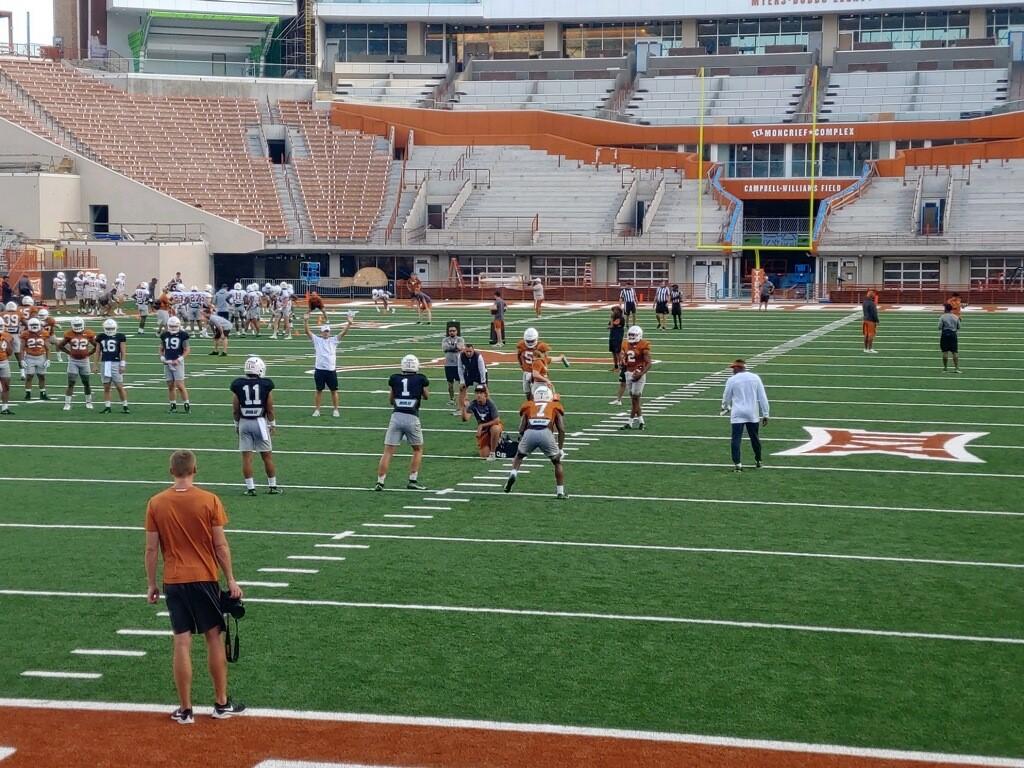 Texas Longhorns football practice 8-8-21