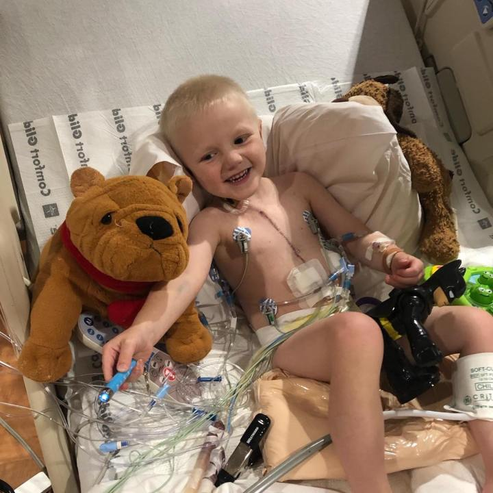Susan Nerenberg says Tex is still recovering from his third open-heart surgery, which occurred six weeks ago, and doctors said anyone living in the home should opt for virtual learning. (Photo courtesy Susan Nerenberg)
