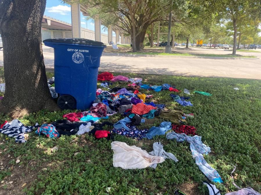 Homeless camps in northwest Austin (KXAN Photo/Kaitlyn Karmout)