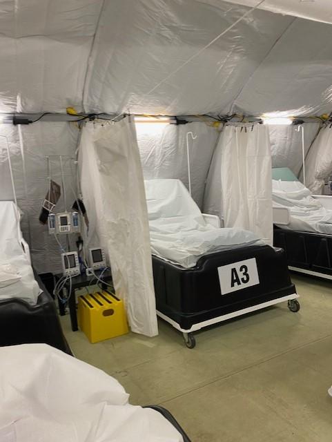 Antibody infusion center at the Travis County Expo Center (Courtesy: Susan Fox)