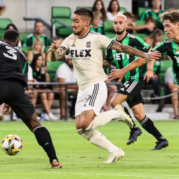 Cristian Arango scored the opening goal for LAFC in a 2-1 win over Austin FC.   ANDY NIETUPSKI   TTL SPORTS FOR THE STRIKER TEXAS