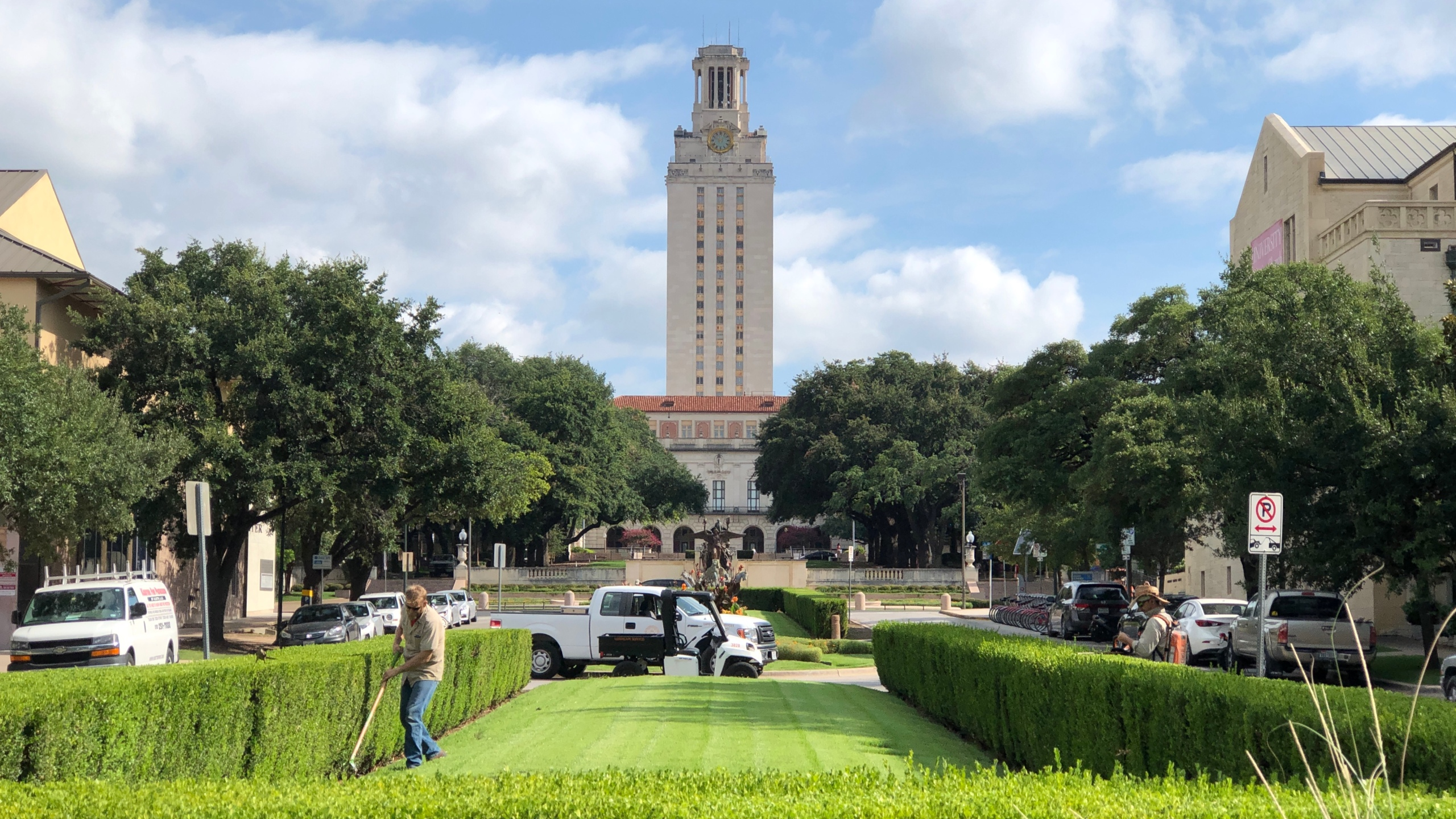 UT Tower on a sunny day.