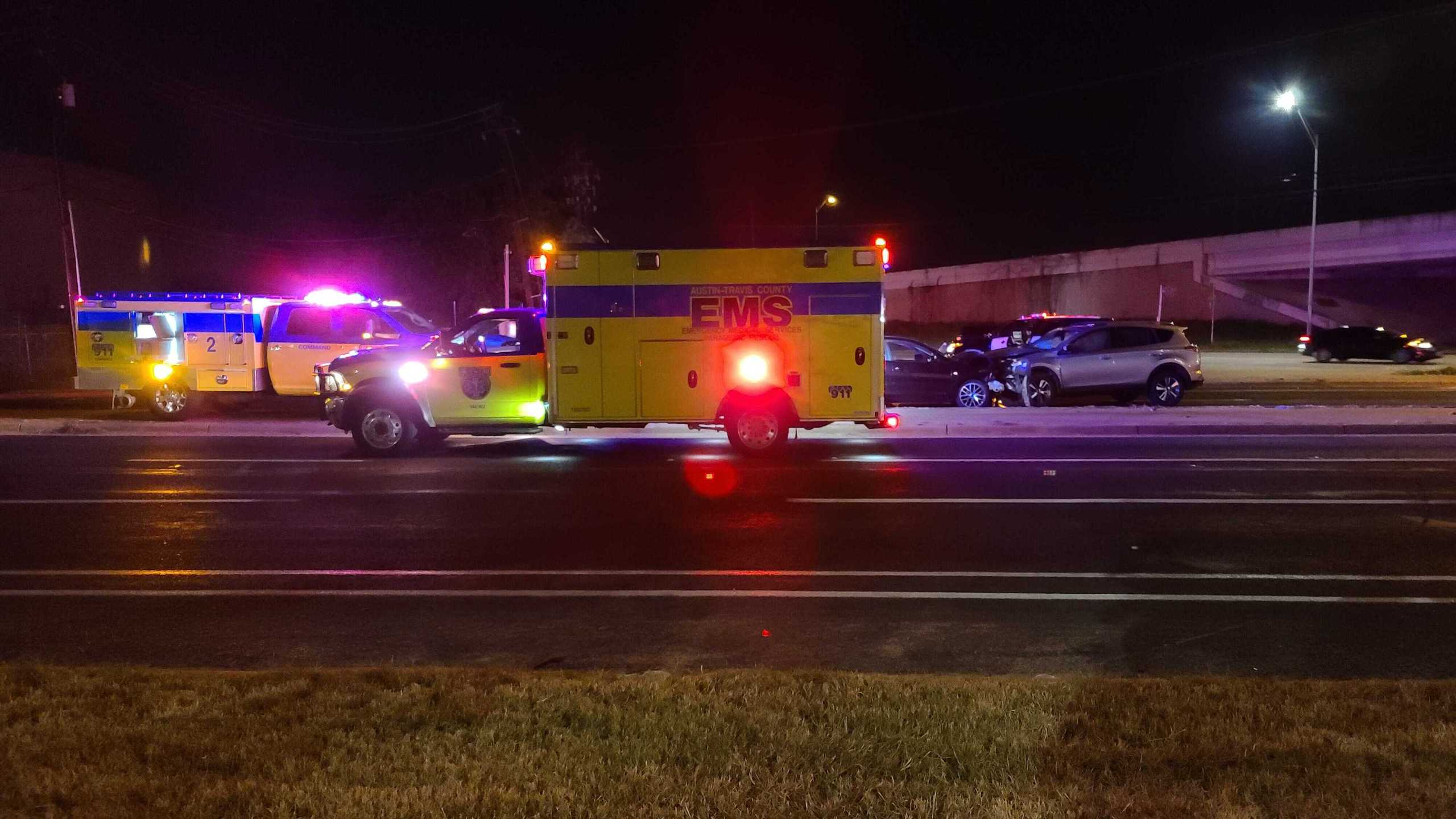 One person is dead and two others were taken to the hospital after a multi-vehicle crash in northwest Austin Sept. 7, 2021 (KXAN Photo/Andrew Choat)