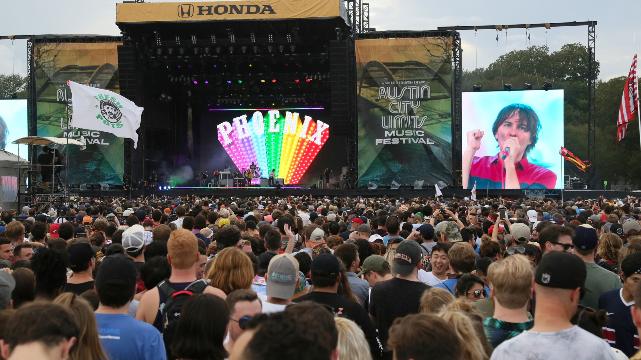 Phoenix performs on Day 3 of the Austin City Limits Music Festival's first weekend on Sunday, Oct. 7, 2018, in Austin, Texas. (Photo by Jack Plunkett/Invision/AP)