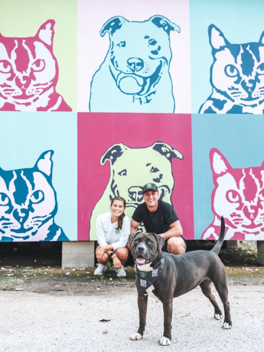 Austin FC goalkeeper Will Pulisic and his girlfriend Mia have fostered Black Rose, a shelter dog at Austin Pets Alive! (Picture: Austin FC)