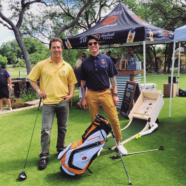 Love, Tito's as part of a charity golf event (Courtesy Zack Flores)