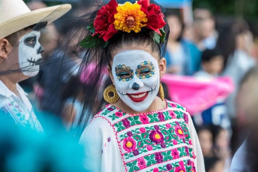 Round Rock Ballet Folklorico dancer at a Dia De Los Muertos event (Courtesy Yolanda Sanchez)