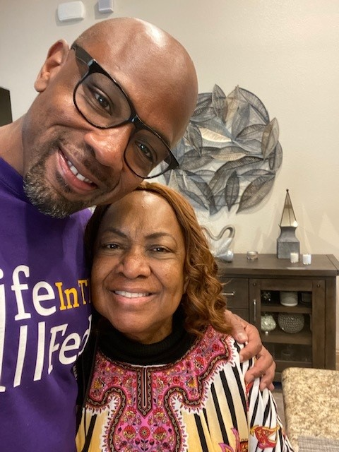Kendrick Fulton and his mother, Lois Carey, after his release (Courtesy Kendrick Fulton)