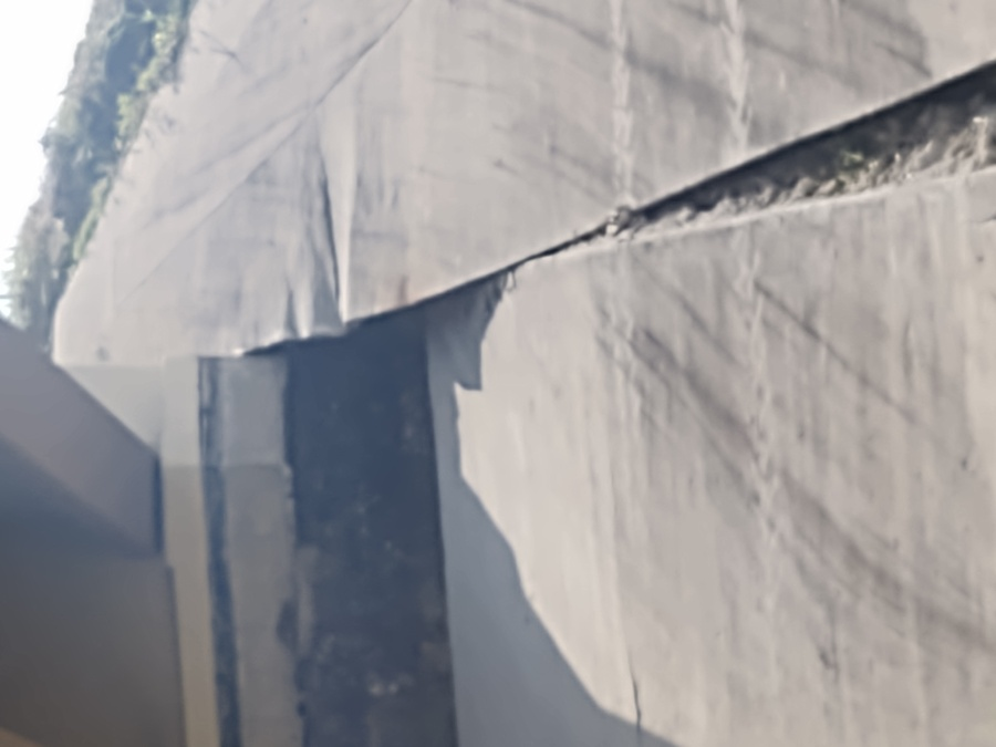 The Texas Department of Transportation is evaluating damages to the underside of a bridge near SH 45 and the U.S 183 frontage road. (Courtesy: Christopher C Carrales)