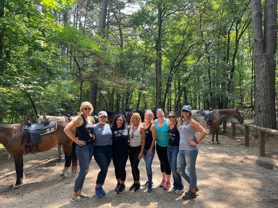 Terian Szymczak and her friends on the trip. (Courtesy Terian Szymczak)