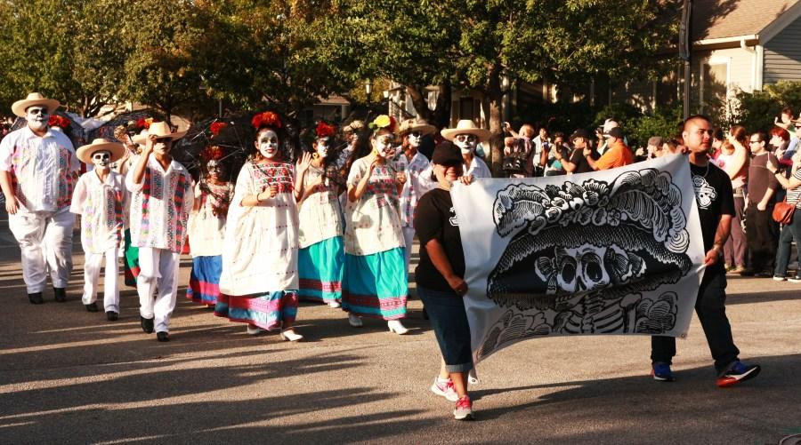 Round Rock Ballet Folklorico dancers at a Dia De Los Muertos event (Courtesy Yolanda Sanchez)