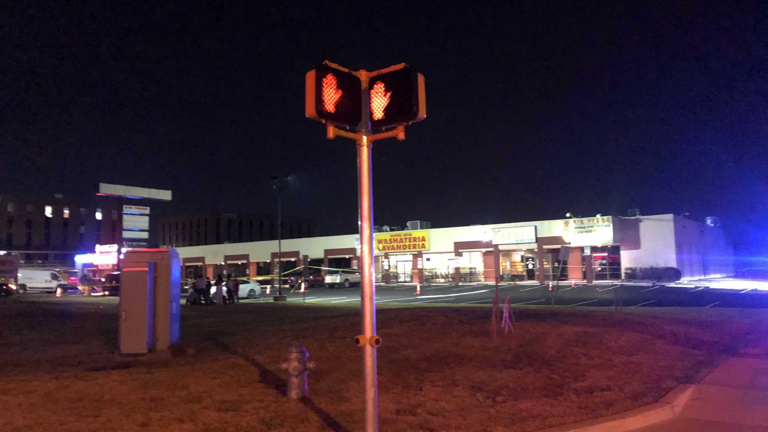 One person dead in shooting on North Lamar Boulevard the morning of Sept. 12, 2021 (KXAN Photo/Frank Martinez)