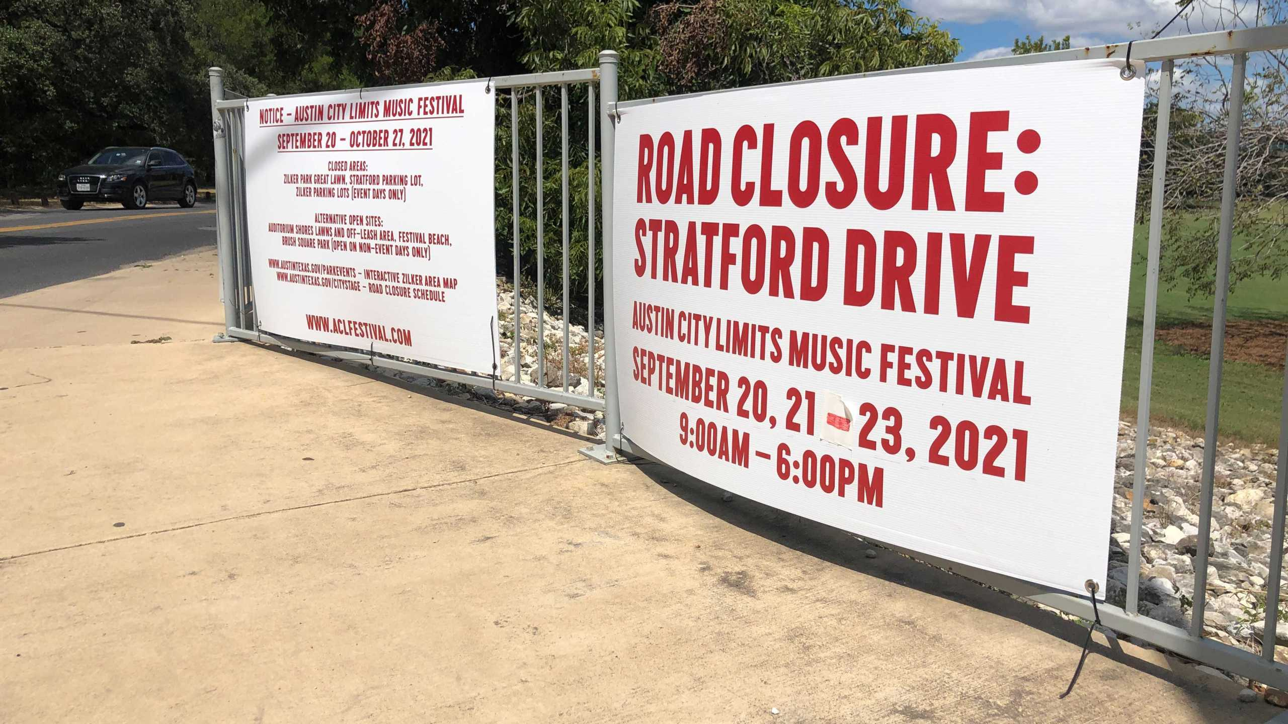Parts of Zilker Park will be closed from Sept. 20 - Oct. 17 for Austin City Limits Music Festival (KXAN Photo/Chris Nelson)