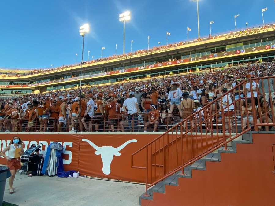 Texas Longhorns gameday student section