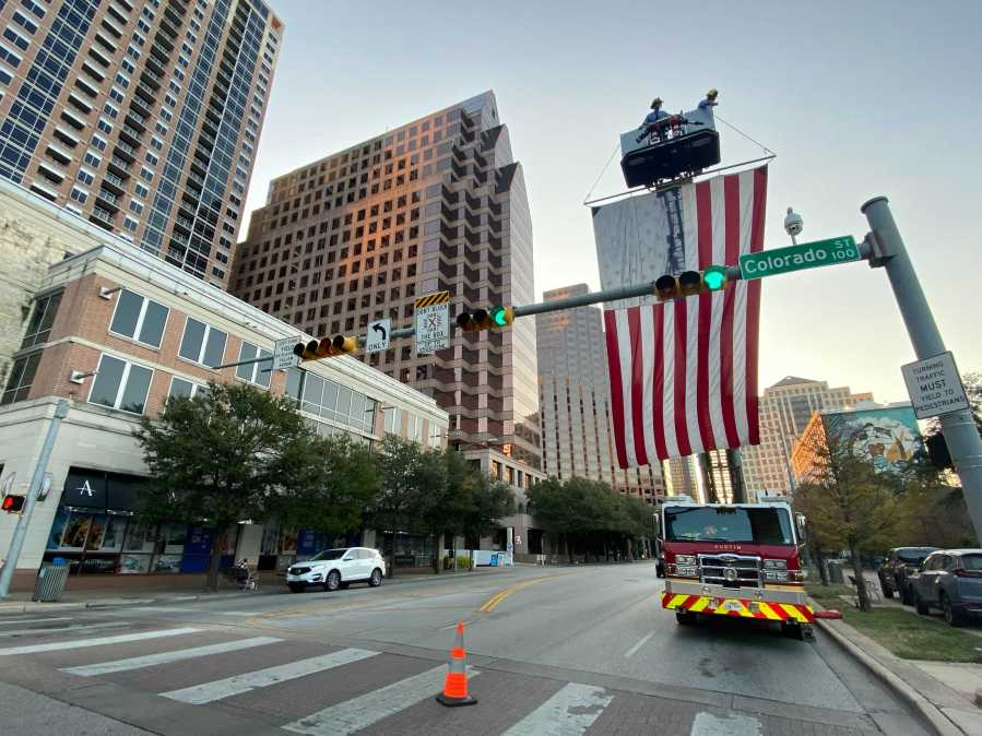 The Austin Firefighters Association held a 9/11 memorial service. The honor guard was present. (KXAN Photo/Grace Reader)
