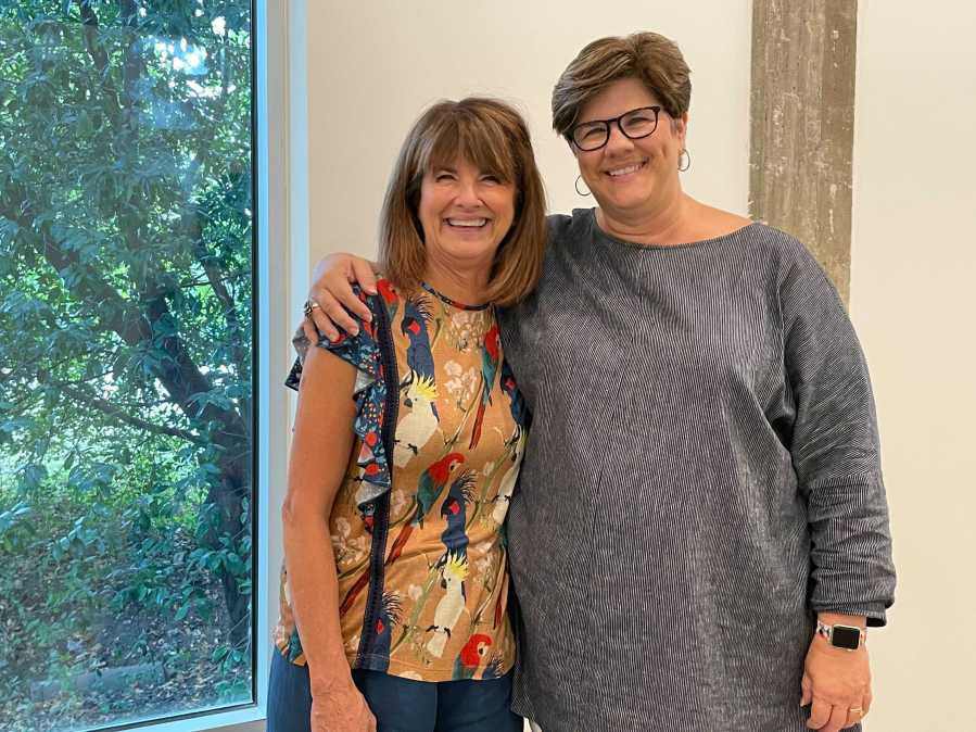 Pat Chapman and Kimberly Terry of Art From the Streets are preparing to move the nonprofit into its first permanent studio space. (KXAN Photo/Kelsey Thompson)