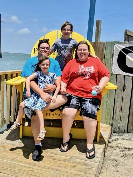 Jason Belk and his family pictured here. They spent months waiting on rental assistance through the statewide program, after he lost his job and they struggled to pay their bills. (Photo provided by: Belk family)