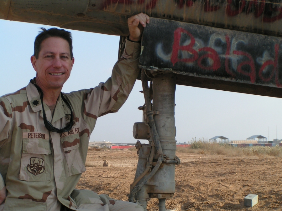 Dr. Alan Peterson, a retired lieutenant colonel, served on three deployments after the September 11, 2001 terror attacks.