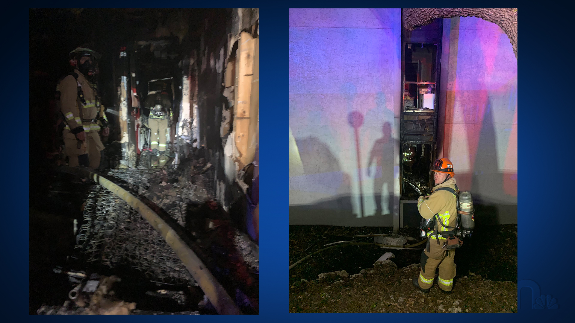 AFD provided these photos of a fire at 3517 North Hills Dr. they ruled was an arson Friday morning. AFD said there's a suspect in custody.