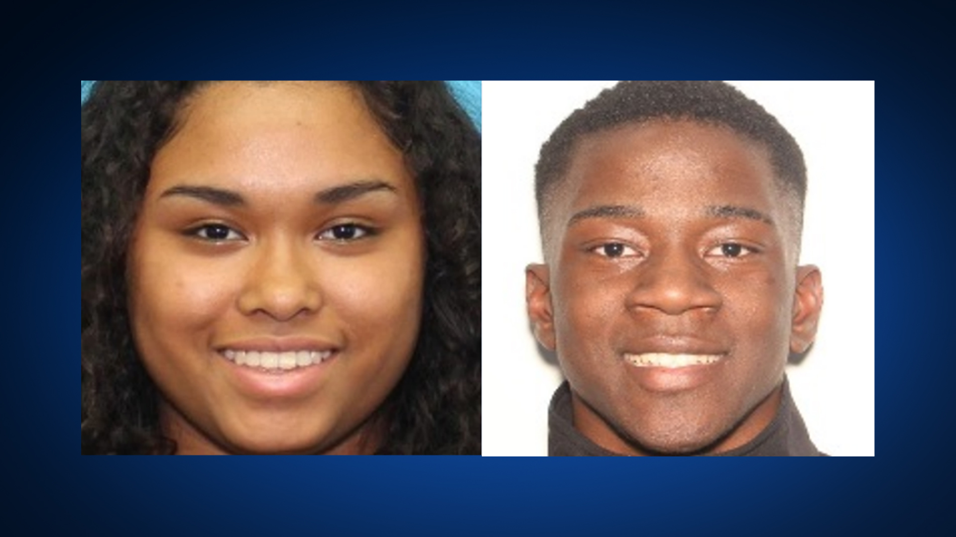 Alicity Erevia, 17, pictured on the left, and Sharieff Sharrieff, 22, pictured on the right (Texas DPS Photos)