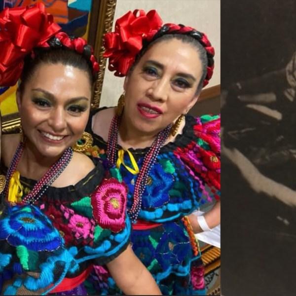 Round Rock Ballet Folklorico dancers and a young Yolanda Sanchez dancing (Courtesy Yolanda Sanchez)