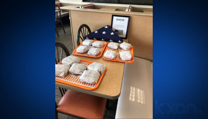 A Temple Whataburger pays tribute to the 13 U.S. service members killed in an attack at a Kabul airport. (KWKT Photo/Dean Wetherbee)