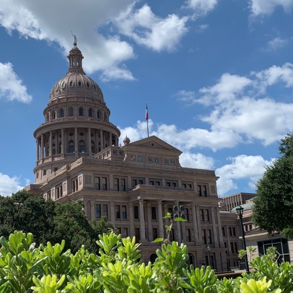A photo of the Texas Capitol building