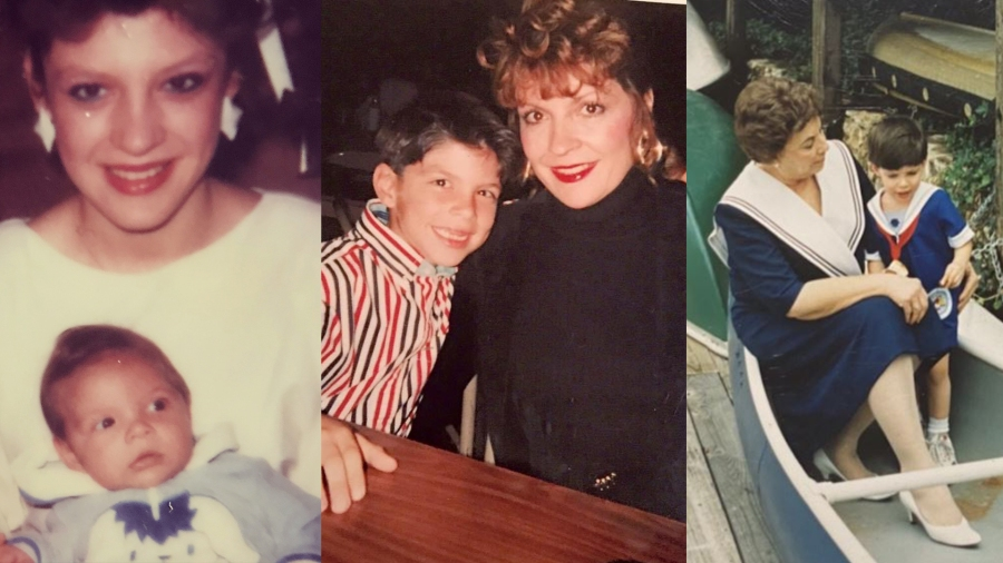Zack Flores in pictures with his sister, mom and grandmother, who all influenced his desire to serve others (Courtesy Zack Flores)