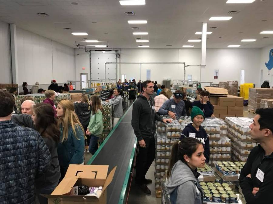 Love, Tito's volunteers at the food bank (Courtesy Zack Flores)