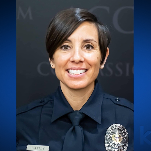 Officer Michelle Gattey died after contracting COVID-19. (Georgetown Police Department Photo)