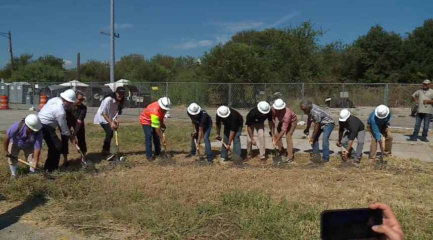 The Esperanza Community complex will be developed by The Other Ones Foundation, a nonprofit that works to give low-barrier work opportunities, case management and aid to the local homeless population. The facility will be able to temporarily house around 150 people, TOOF says. (KXAN Photo)