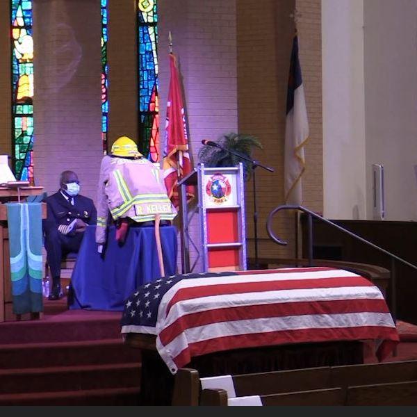 Funeral held for Austin firefighter Rod Kelley in San Antonio.