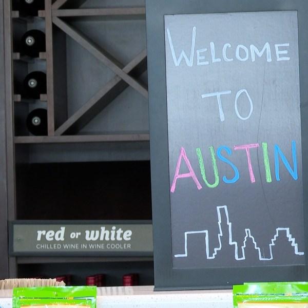 An employee prepares food at the Hilton Garden Inn Austin Airport