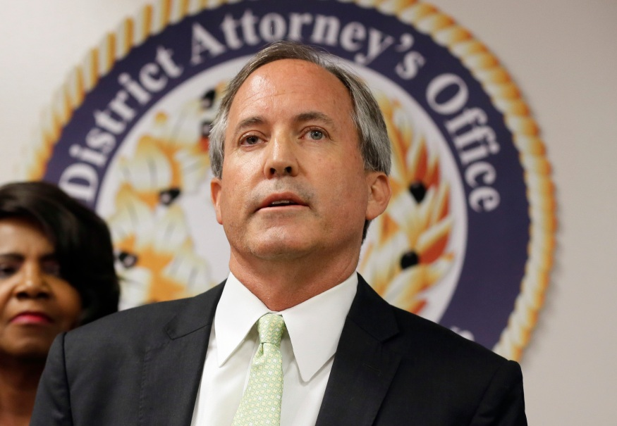 FILE – July 2021 marked six years since Texas Attorney General Ken Paxton was indicted on felony securities fraud charges. The case has been delayed, in part, due to a dispute over where Paxton should be tried. It is currently expected to be in his home of Collin County, a location critics argue could give him a legal advantage. While indicted, Paxton narrowly won reelection in 2018. (AP Photo / Tony Gutierrez)