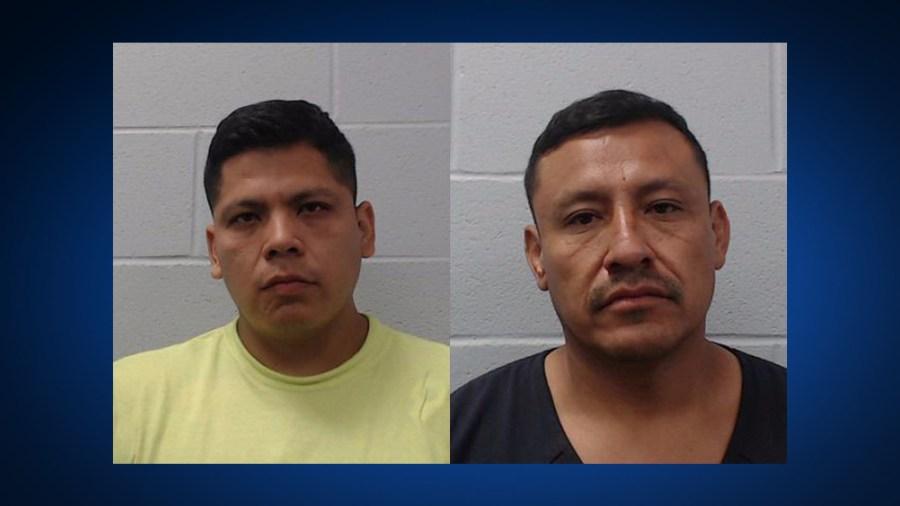 LEFT: Jose Alberto Celestino-Fierro, 32, RIGHT: Juan Garcia, 44 (Hays County Sheriff's Office photos)