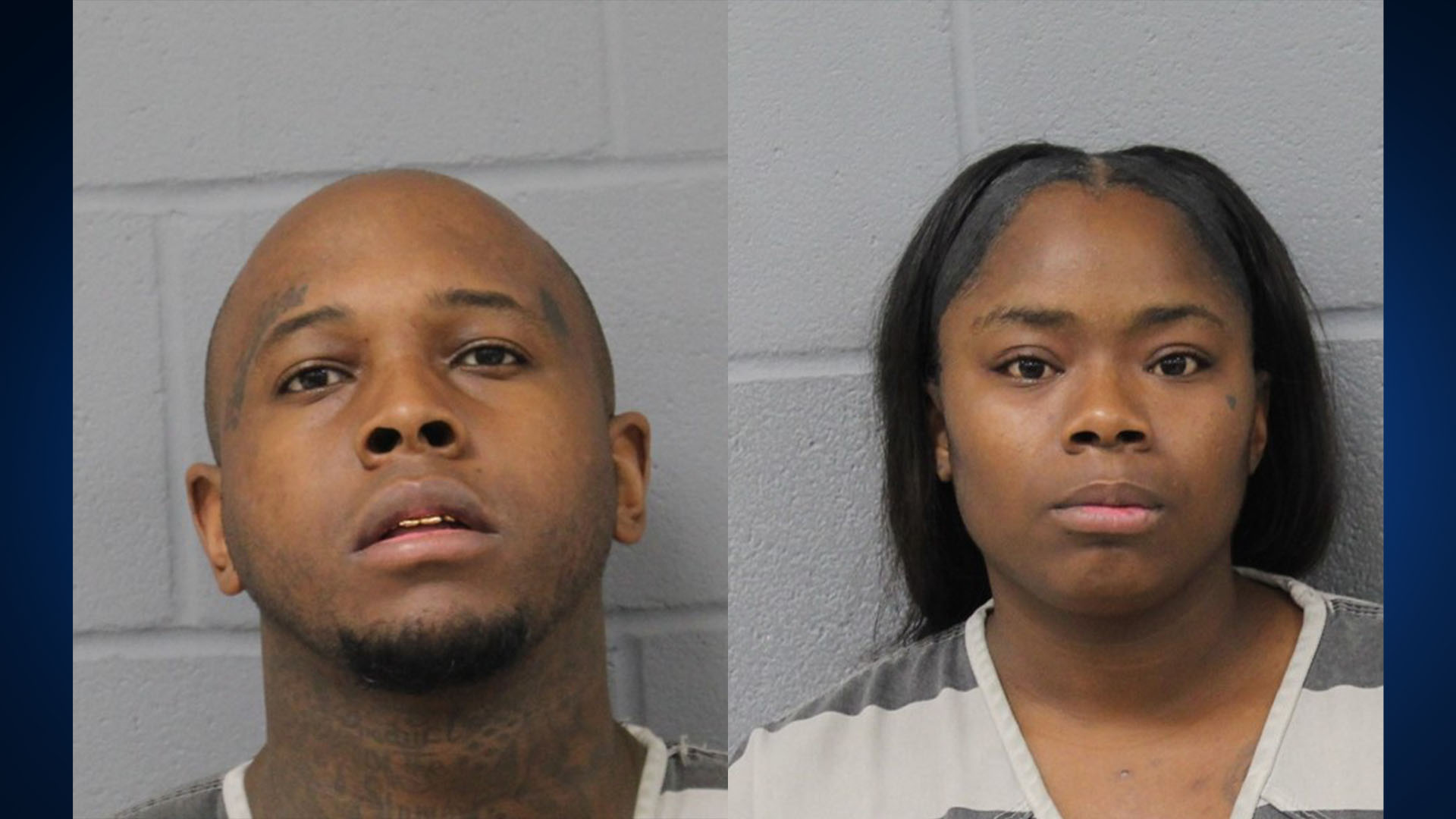 LEFT: Laderious Nicholson, 28, RIGHT: Sheawna Caldwell, 31 (Austin Police Photos)