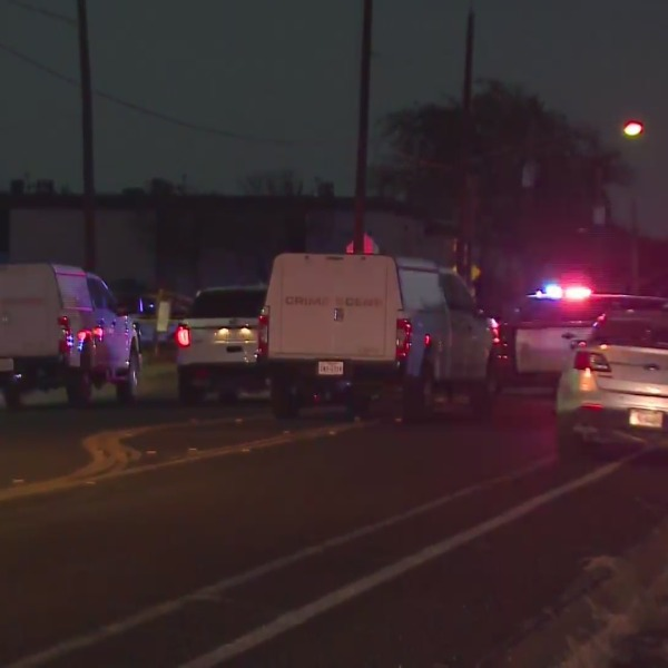 A 20-year-old is dead after officers heard gunshots in the 1500 block of Reagan Hill Drive in northeast Austin Thursday night. (KXAN Photo/Tim Holcomb)