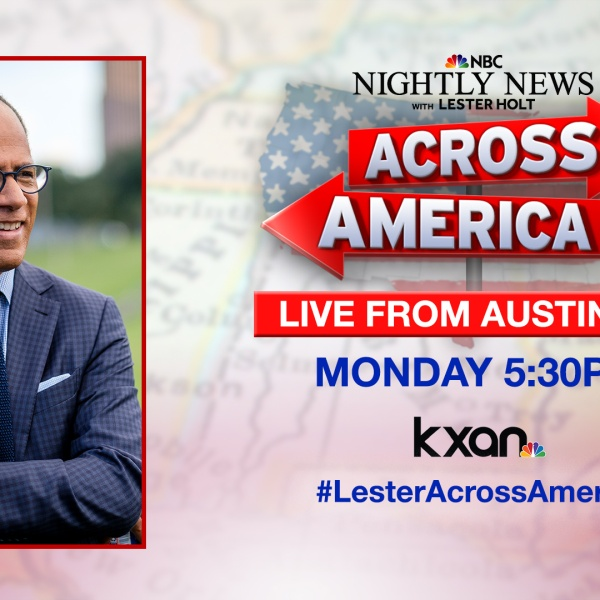 """NBC Nightly News anchor Lester Holt will be featuring Austin for his """"Across America"""" series on Monday."""