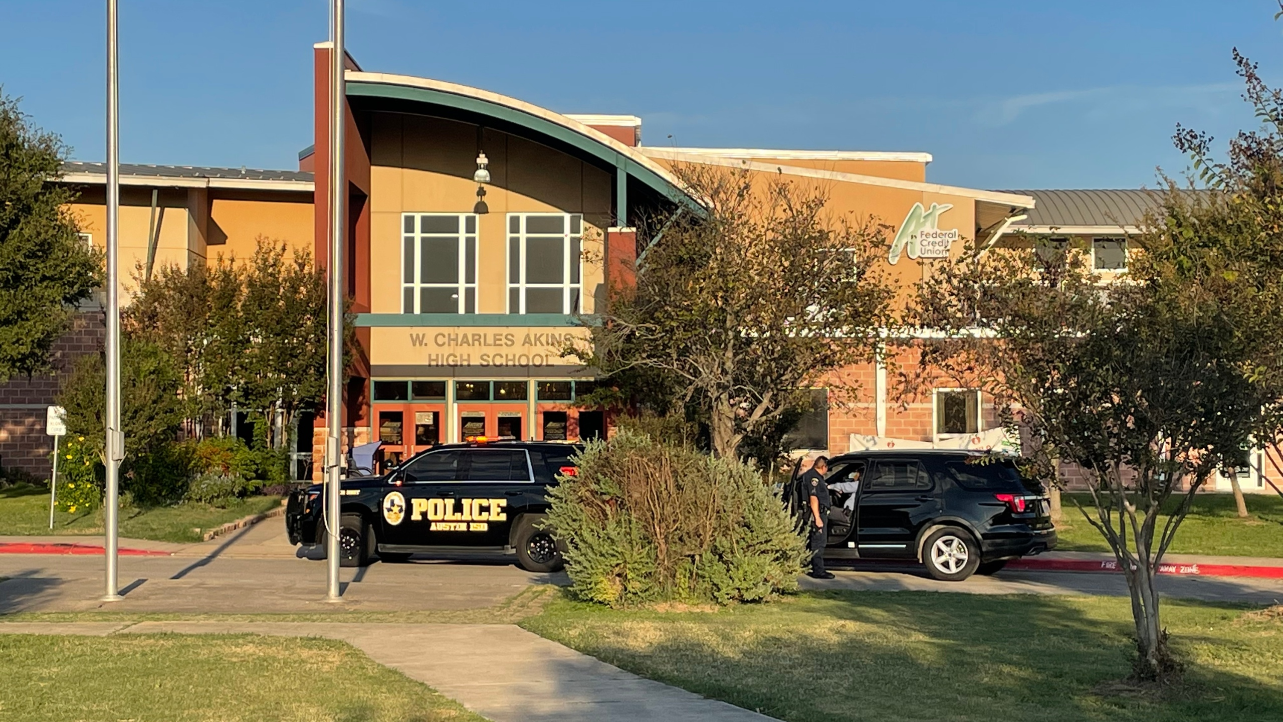 A spokesperson for Austin ISD said two students got into a fight Thursday afternoon at Akins Early College High School when one hurt the other with a knife. The district stated there was no threat to the school. (KXAN Photo/Daniel Marin)