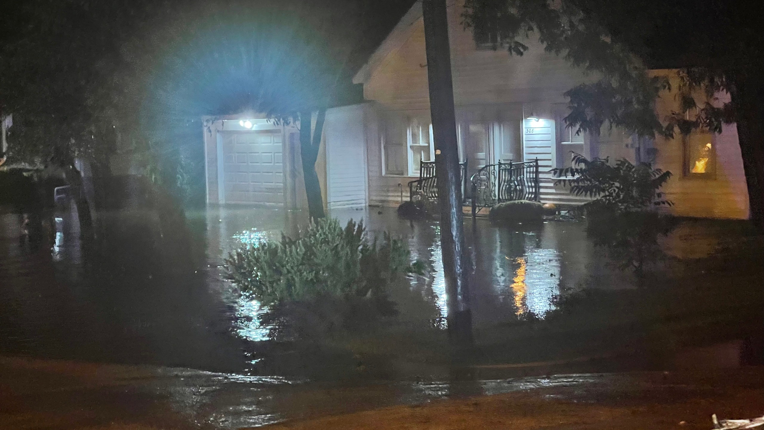 Craig Moreau, chief of Fayette County's Emergency Management and Homeland Security Department, took photos of rising waters reaching homes and other areas in Fayette County Oct. 13, 2021.