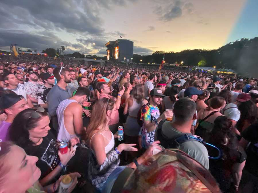 Fans pack in near the Miller Lite stage at Austin City Limits (KXAN photo/Grace Reader)