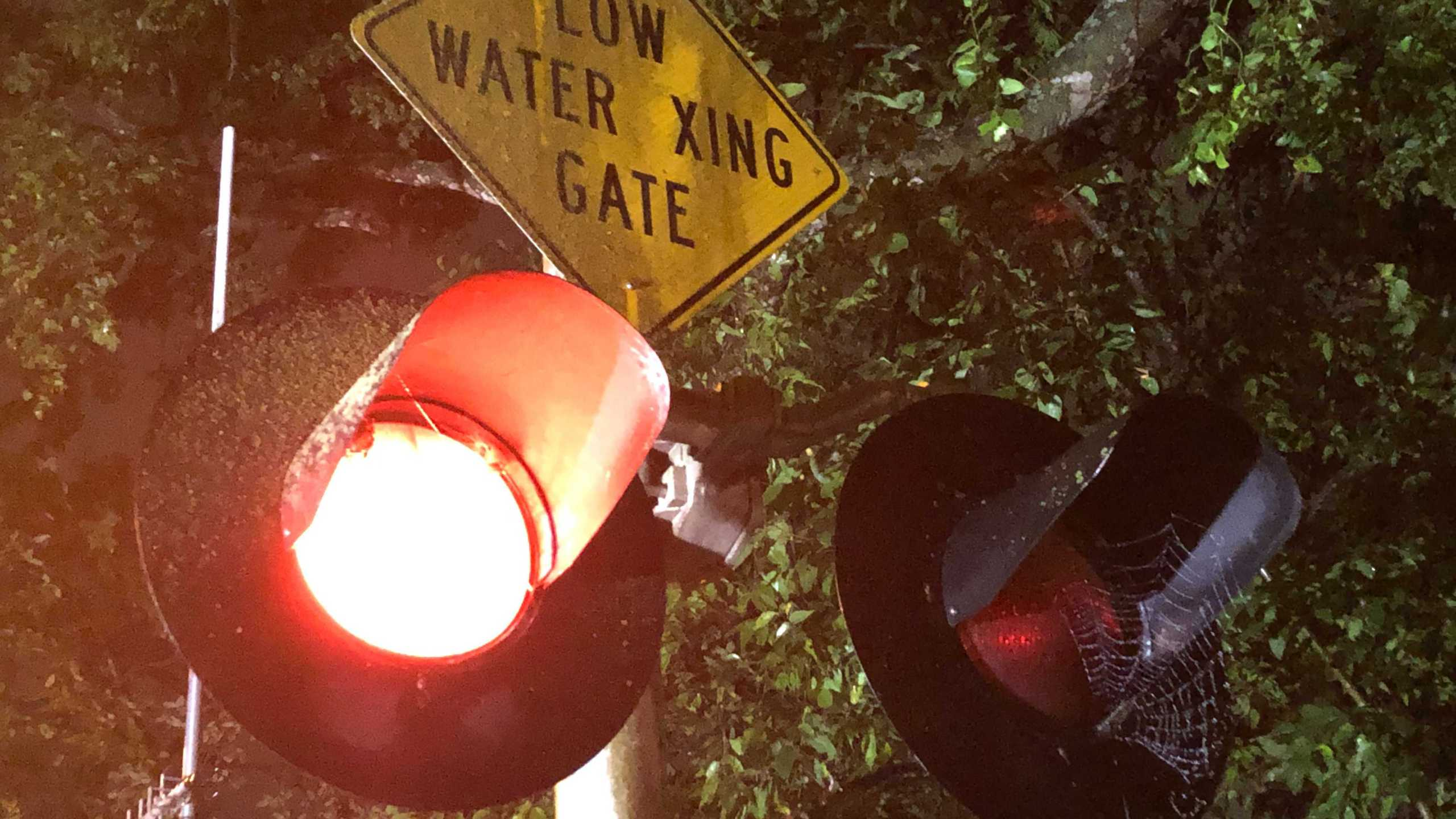 Heavy rains flooded a low water crossing on Old Bee Caves Road in southwest Austin on Friday. Some area of Austin got around four inches of rain as storms rolled through the area. (KXAN photo/Mariano Garza)
