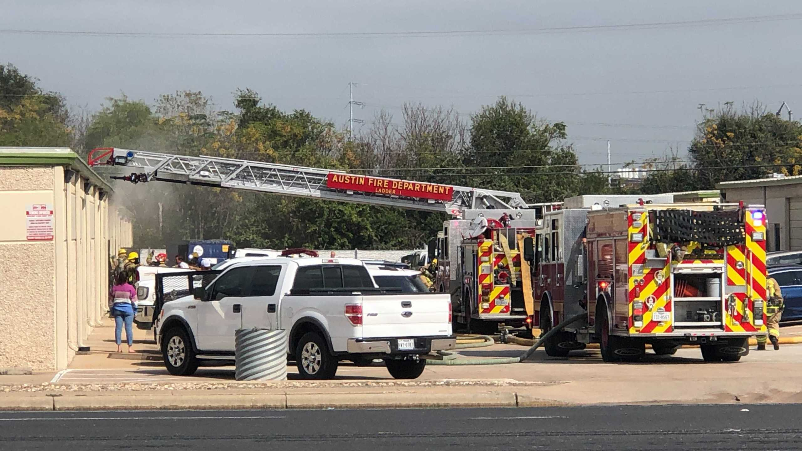 Burleson Road warehouse fire 10-25