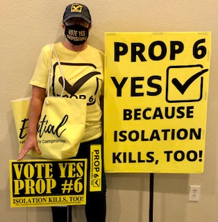 Texas Caregivers for Compromise are advocating in favor of Proposition 6 on the November ballot. (Photo provided by: Mary Nichols)