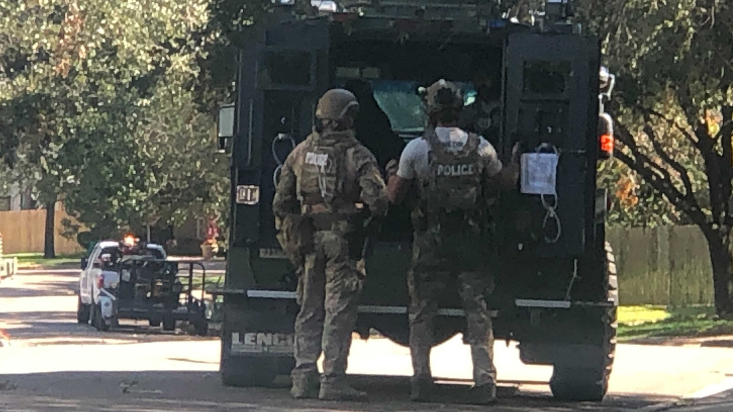 SWAT situation on Pinkney Lane in southwest Austin on Oct. 27, 2021