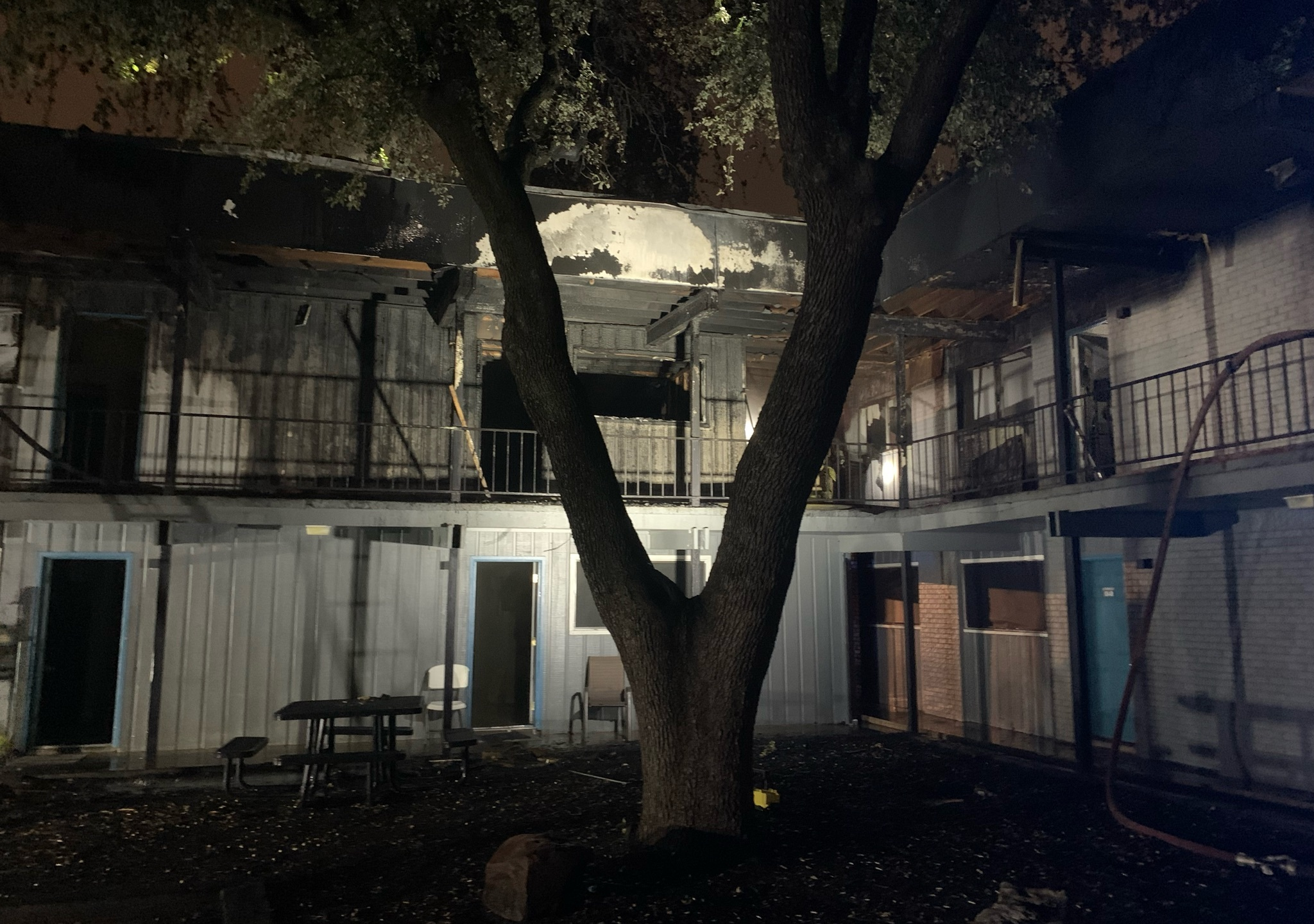 AFD responded to an apartment complex fire in northeast Austin on Sunday. Four units were damaged, but no one was injured. (AFD photo)