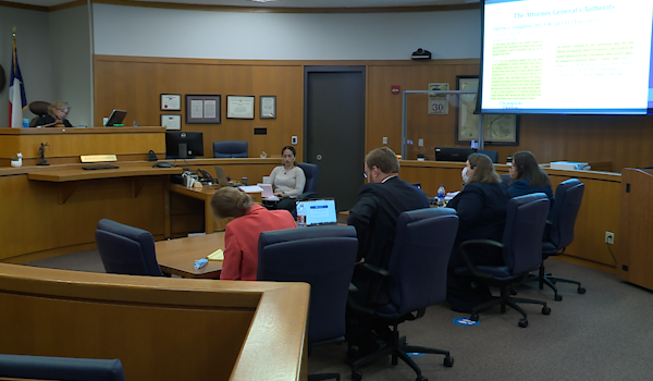 Round Rock ISD VS. State of Texas convenes on mask mandate hearing. KXAN/Kaitlyn Karmout