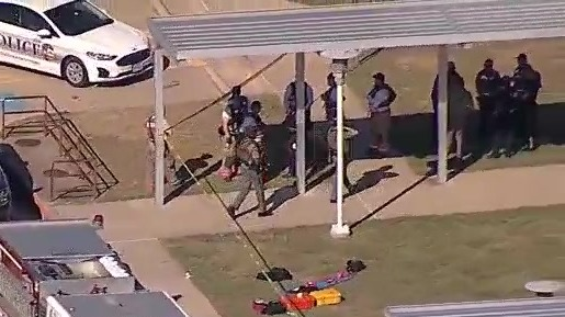 In the aftermath of Wednesday morning's shooting at Timberview High School in Arlington, many are pointing to Texas' permitless carry gun law, which went into effect Sept. 1. (KXAS Photo)